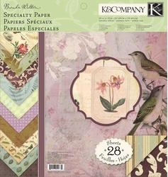 K&Company Specialty Paper Pad 734 Brenda Walton Flora&Fauna