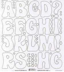 Stickervel Starform Transparant Fashion Design Grote Letters