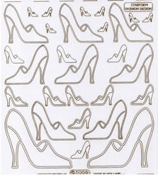 Stickervel Starform Transparant Fashion Design Shoe