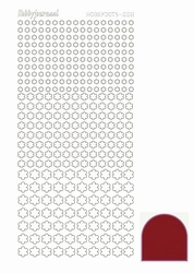 Stickervel Hobbydots Mirror STDM084 Red