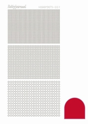 Stickervel Hobbydots Adhesive STDA074 Red