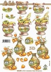 A4 Knipvel Le Suh 8215398 Herfstpot landschap / maïs/paprika