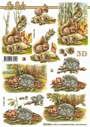 A4 Knipvel Le Suh 8215388 Herfst/eekhoorntjes/egeltjes