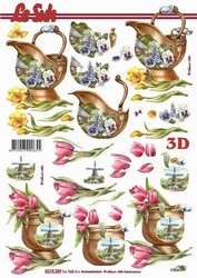 A4 Knipvel Le Suh 8215389 Bloemen op pot/tulp/narcis