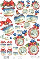 A4 Knipvel Mary Rahder 2620 Kerstbal