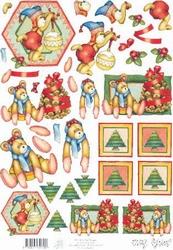 A4 Knipvel Marij Rahder 2623 Kerstbeer groen
