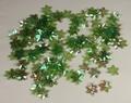 Bloemen pailletten 302 olijfgroen transparant met puntig bla