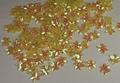 Bloemen pailletten 402 geel