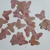 Vlinder pailletten PMG053 parelmoer roze