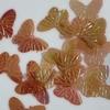 Vlinder pailletten PMG121 transparant roze