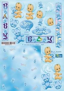 A4 Knipvel Betsy Lurvink GL6041 Baby blue