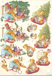 A4 Knipvel Wekon BM0037 Kerstboom met speelgoed