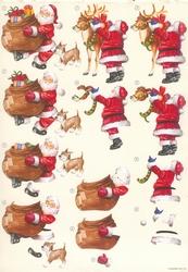 A4 Knipvel Wekon 4994-129 Kerstman met rendier