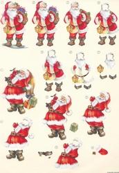 A4 Knipvel Wekon 4994-128 Kerstman met zal speelgoed