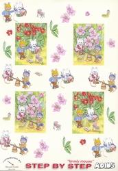 Adios Muizen 063 Rode/roze bloemen