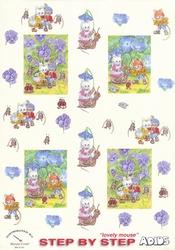 Adios Muizen 061 Blauw/lila bloemen