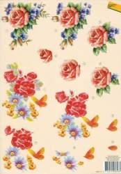 A4 Knipvel Avec 101 Bloemen rozen