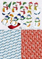 A4 Knipvel Betsy Lurvink GL500 1Achtergrond+sneeuwpop