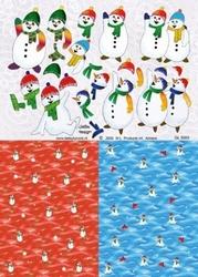 A4 Knipvel Betsy Lurvink GL5003 Achtergrond+sneeuwpop