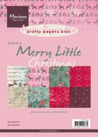 MD Pretty Papers bloc PB7034 Eline's Merry little Christmas