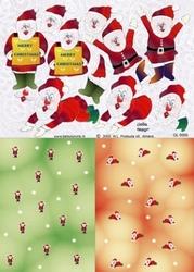 A4 Knipvel Betsy Lurvink GL5005 Achtergrond Kerstman