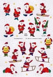 A4 Knipvel Betsy Lurvink GL5008 Kerstmannen