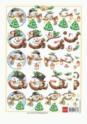 A5 Knipvel Marianne Design Christmas Sneeuwpop