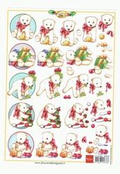 A5 Knipvel Marianne Design Christmas Kerstbeer