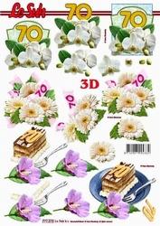 A4 Knipvel Le Suh 777272 Jubileum/verjaardag 70
