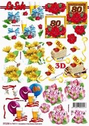 A4 Knipvel Le Suh 777275 Jubileum/verjaardag 80
