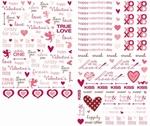 Making Memories Love Struck 33693 Rub-ons