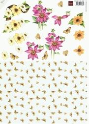 A4 knipvel Mattie MB0089 Najaarsbloemen