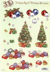 Line Kerststansvel 500 Kerstboom/paakjes/bollen