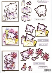 A4 Line Stansvel 735 Purrfest Kittens Happy birthday/wishes