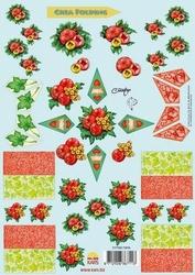A4 Knipvel Crea folding kerst bal hart