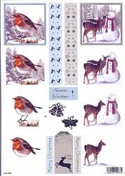 Line Kerststansvel 945 Merry Christmas/Seasons Greeting