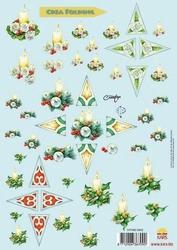 A4 Knipvel Crea folding kerst hulst ster