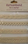 Vintage Katoenband KB-0002 crème