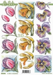 A4 Knipvel Le Suh 8215392 Tulp/narcis/viooltje