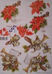 A4 Kerstknipvel Le Suh 8215106 Viool/trompet met versiering