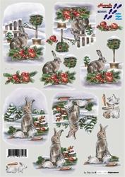 A4 Kerstknipvel Le Suh 8215101 Haas in de winter