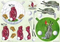 Mireille A4 Knipvel S002 voor schommelkaarten Golf