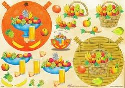 Mireille A4 Knipvel S009 voor schommelkaarten Fruitmandje