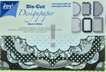 Joy A6 Die Cut Design Paper 8011-0505 Black & White