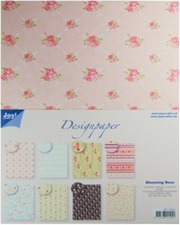 Joy! A4 Design Paper Pad 8011-0551 Blooming Rose
