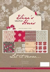MD Pretty paper Bloc PB7037 Eline's huis Let it snow