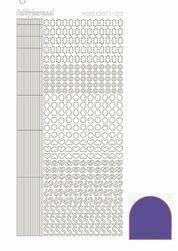 Stickervel Hobbydots Mirror STDM109 Purple/paars