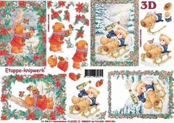 A4 Knipvel Le Suh Kerst 4169390 Beertje met winterpret
