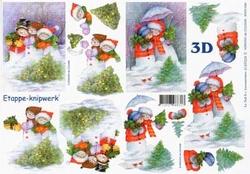 A4 Knipvel Le Suh Kerst 4169334 Sneeuwpoppen
