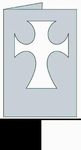 Kaart Latijns kruis rechthoek wit/zwart